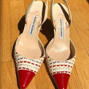 Manolo Blahnik Two-toned kitten heels 37 1/2